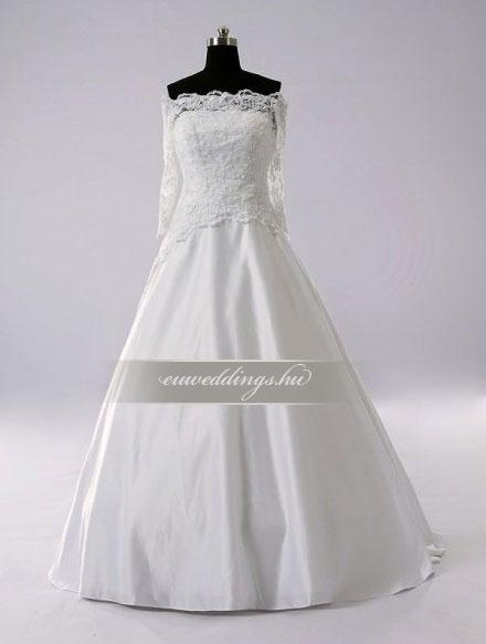 Menyasszonyi ruha A vonalú hosszú ujjú-AVH-250