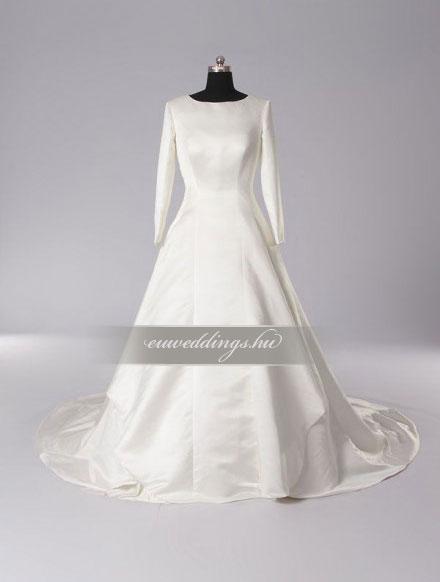 Menyasszonyi ruha A vonalú hosszú ujjú-AVH-284