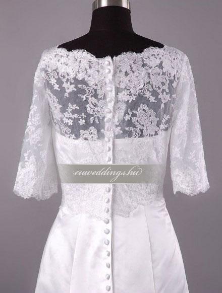 Menyasszonyi ruha A vonalú hosszú ujjú-AVH-322
