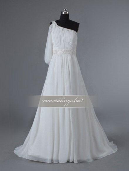 Menyasszonyi ruha A vonalú hosszú ujjú-AVH-337