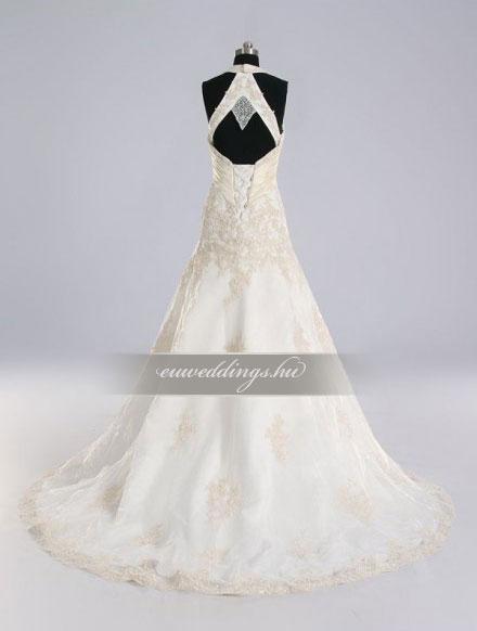Menyasszonyi ruha A vonalú pántos-AVP-358