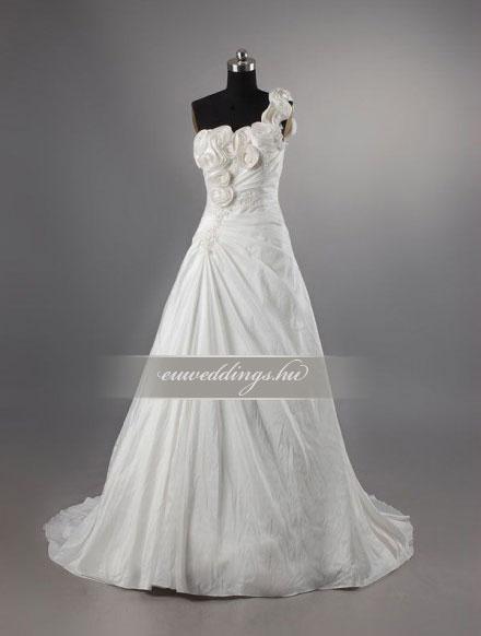 Menyasszonyi ruha A vonalú pántos-AVP-433