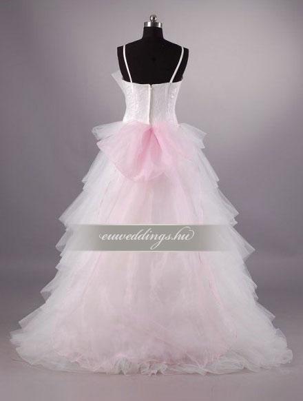 Menyasszonyi ruha A vonalú pántos-AVP-528