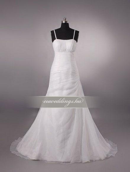Menyasszonyi ruha A vonalú pántos-AVP-538