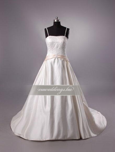 Menyasszonyi ruha A vonalú pántos-AVP-543