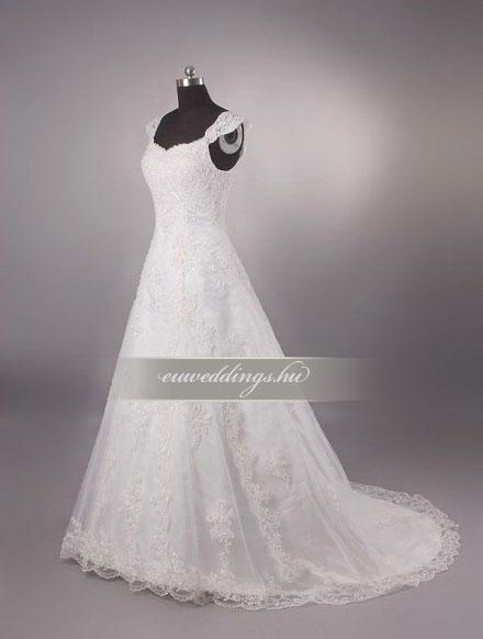 Menyasszonyi ruha A vonalú pántos-AVP-572