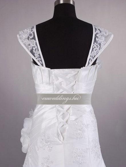 Menyasszonyi ruha A vonalú pántos-AVP-582