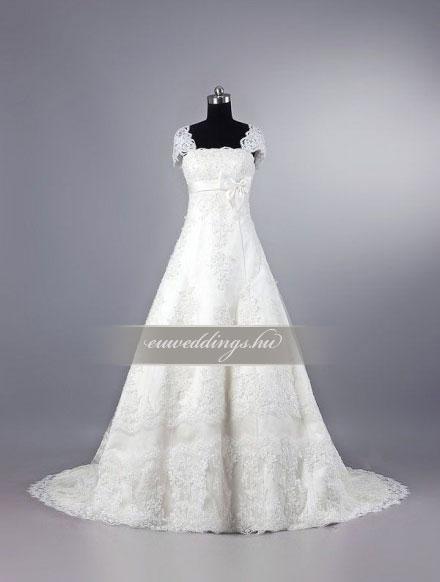 Menyasszonyi ruha A vonalú pántos-AVP-606