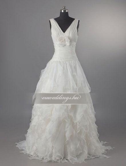 Menyasszonyi ruha A vonalú pántos-AVP-703