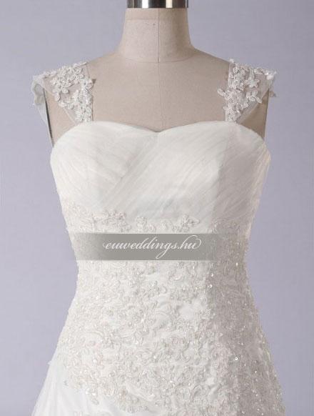 Menyasszonyi ruha A vonalú pántos-AVP-969