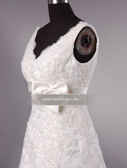 Menyasszonyi ruha A vonalú pántos-AVP-1226