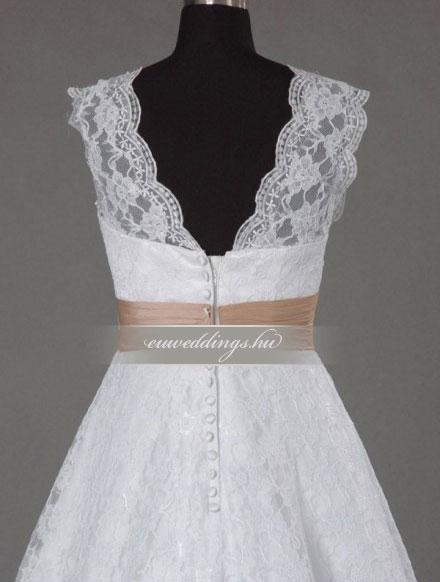 Menyasszonyi ruha A vonalú pántos-AVP-1253