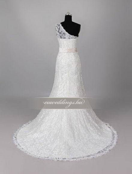 Menyasszonyi ruha A vonalú pántos-AVP-1351