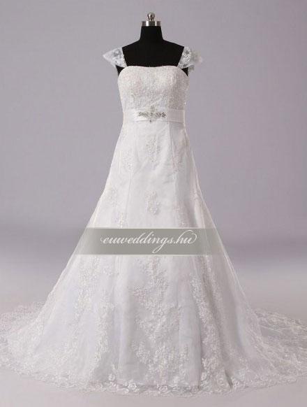 Menyasszonyi ruha A vonalú pántos-AVP-1361