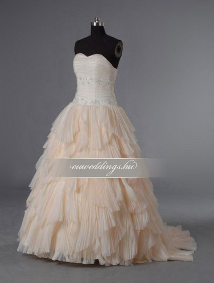 Menyasszonyi ruha A vonalú színes és mintás-AVS-1751