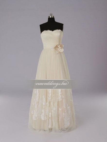Menyasszonyi ruha A vonalú színes és mintás-AVS-1805