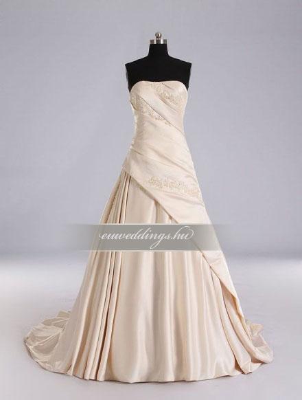 Menyasszonyi ruha A vonalú ujjatlan-AVU-1885