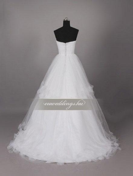 Menyasszonyi ruha A vonalú ujjatlan-AVU-1904