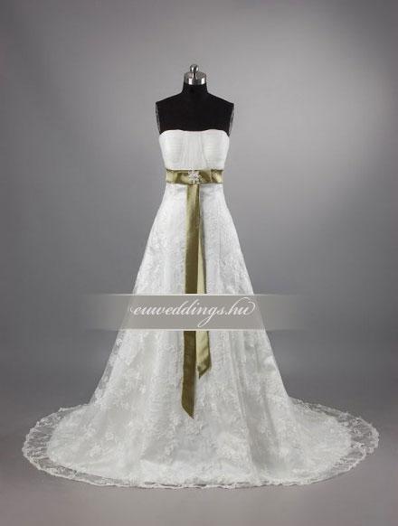 Menyasszonyi ruha A vonalú ujjatlan-AVU-1944