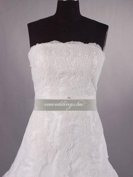 Menyasszonyi ruha A vonalú ujjatlan-AVU-1964