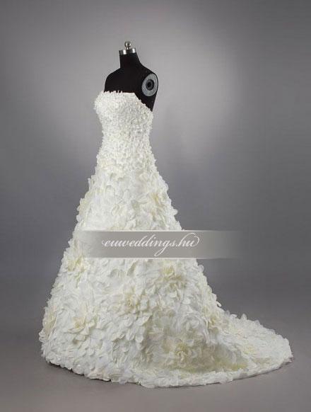 Menyasszonyi ruha A vonalú ujjatlan-AVU-1974