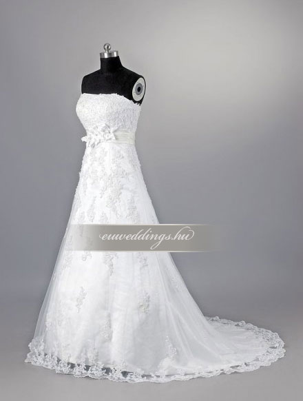Menyasszonyi ruha A vonalú ujjatlan-AVU-1979