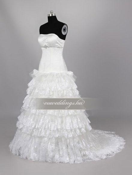 Menyasszonyi ruha A vonalú ujjatlan-AVU-2058