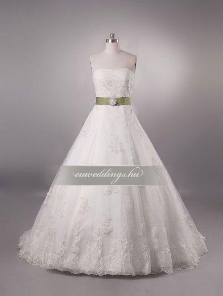 Menyasszonyi ruha A vonalú ujjatlan-AVU-2063