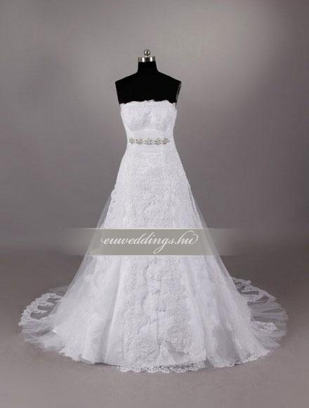 Menyasszonyi ruha A vonalú ujjatlan-AVU-2077