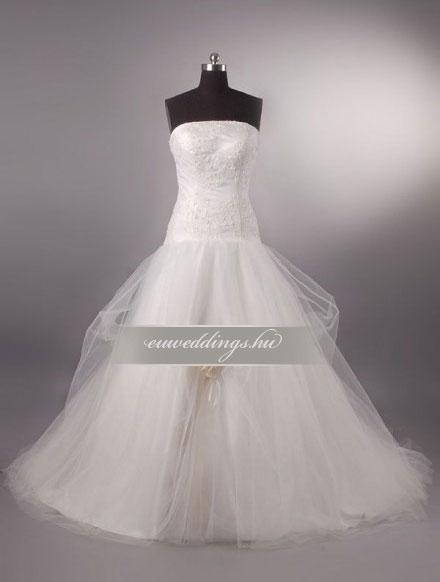 Menyasszonyi ruha A vonalú ujjatlan-AVU-2097