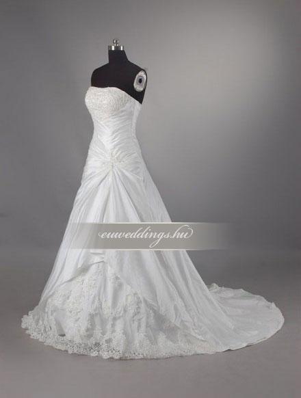 Menyasszonyi ruha A vonalú ujjatlan-AVU-2102