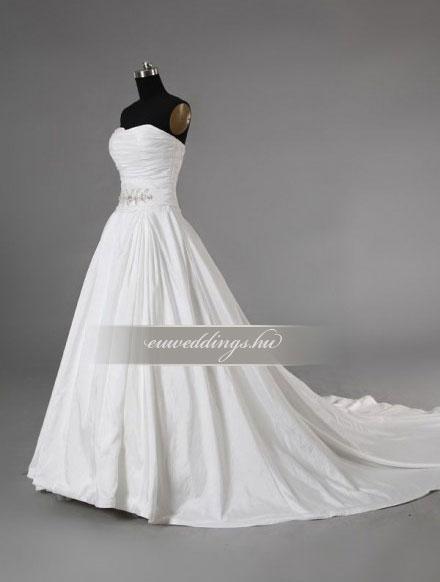 Menyasszonyi ruha A vonalú ujjatlan-AVU-2112
