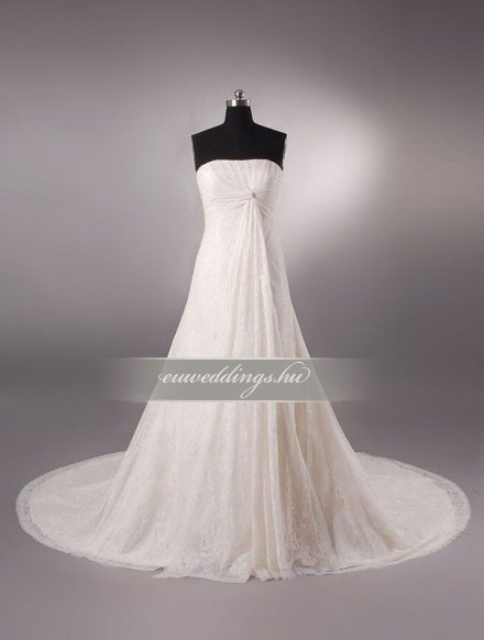 Menyasszonyi ruha A vonalú ujjatlan-AVU-2122