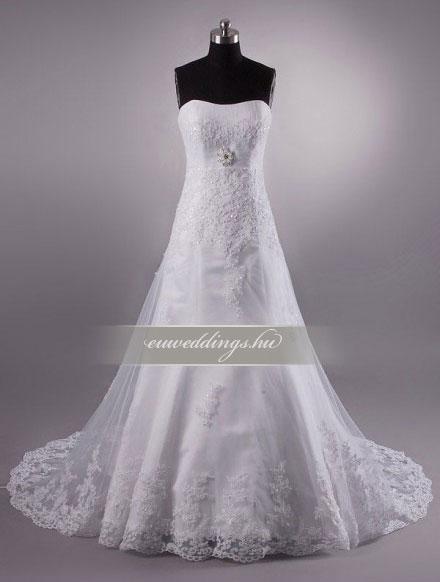 Menyasszonyi ruha A vonalú ujjatlan-AVU-2127