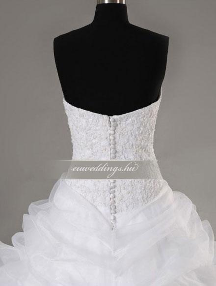 Menyasszonyi ruha A vonalú ujjatlan-AVU-2264