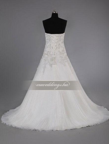 Menyasszonyi ruha A vonalú ujjatlan-AVU-2322