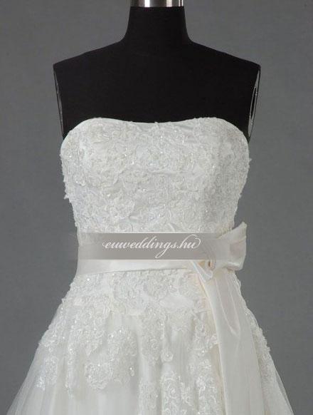 Menyasszonyi ruha A vonalú ujjatlan-AVU-2879