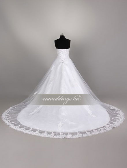 Menyasszonyi ruha A vonalú ujjatlan-AVU-3261