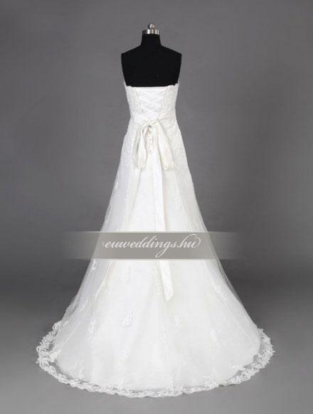 Menyasszonyi ruha A vonalú ujjatlan-AVU-3409