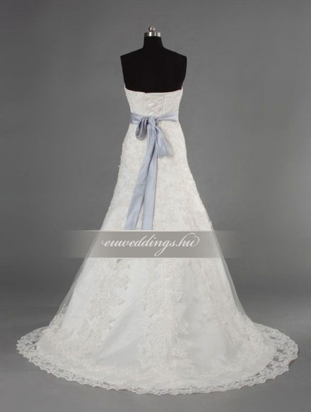 Menyasszonyi ruha A vonalú ujjatlan-AVU-3607
