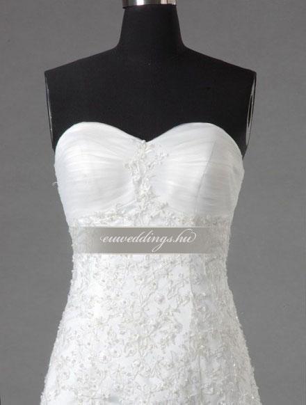 Menyasszonyi ruha A vonalú ujjatlan-AVU-3636