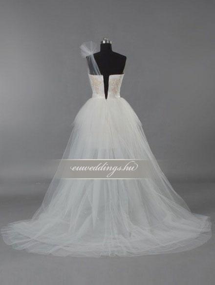 Menyasszonyi ruha aszimmetrikus pántos-ARP-47