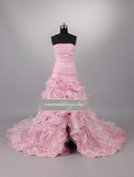 Menyasszonyi ruha aszimmetrikus színes és mintás-ARS-69