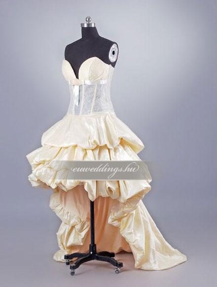 Menyasszonyi ruha aszimmetrikus színes és mintás-ARS-74