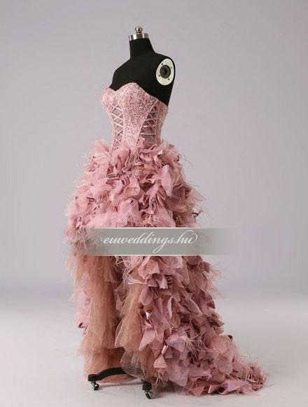 Menyasszonyi ruha aszimmetrikus színes és mintás-ARS-89