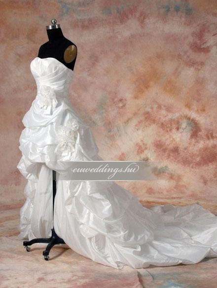 Menyasszonyi ruha aszimmetrikus ujjatlan-ARU-98