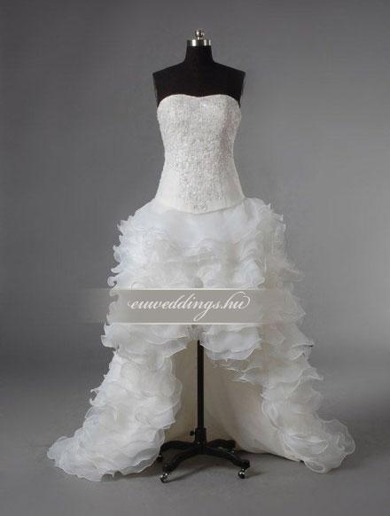 Menyasszonyi ruha aszimmetrikus ujjatlan-ARU-112