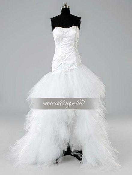 Menyasszonyi ruha aszimmetrikus ujjatlan-ARU-135