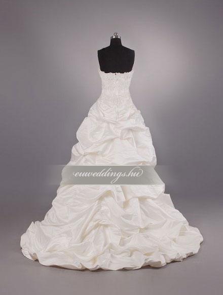 Menyasszonyi ruha aszimmetrikus ujjatlan-ARU-197