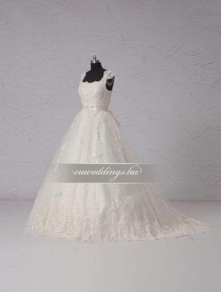 Menyasszonyi ruha báli fazonú pántos-BFP-3888